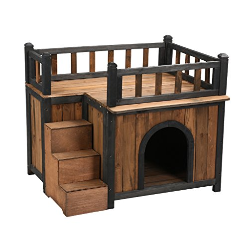 maison en bois pour chien niches. Black Bedroom Furniture Sets. Home Design Ideas